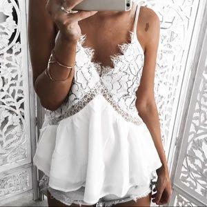 Sabo skirt peplum lace top